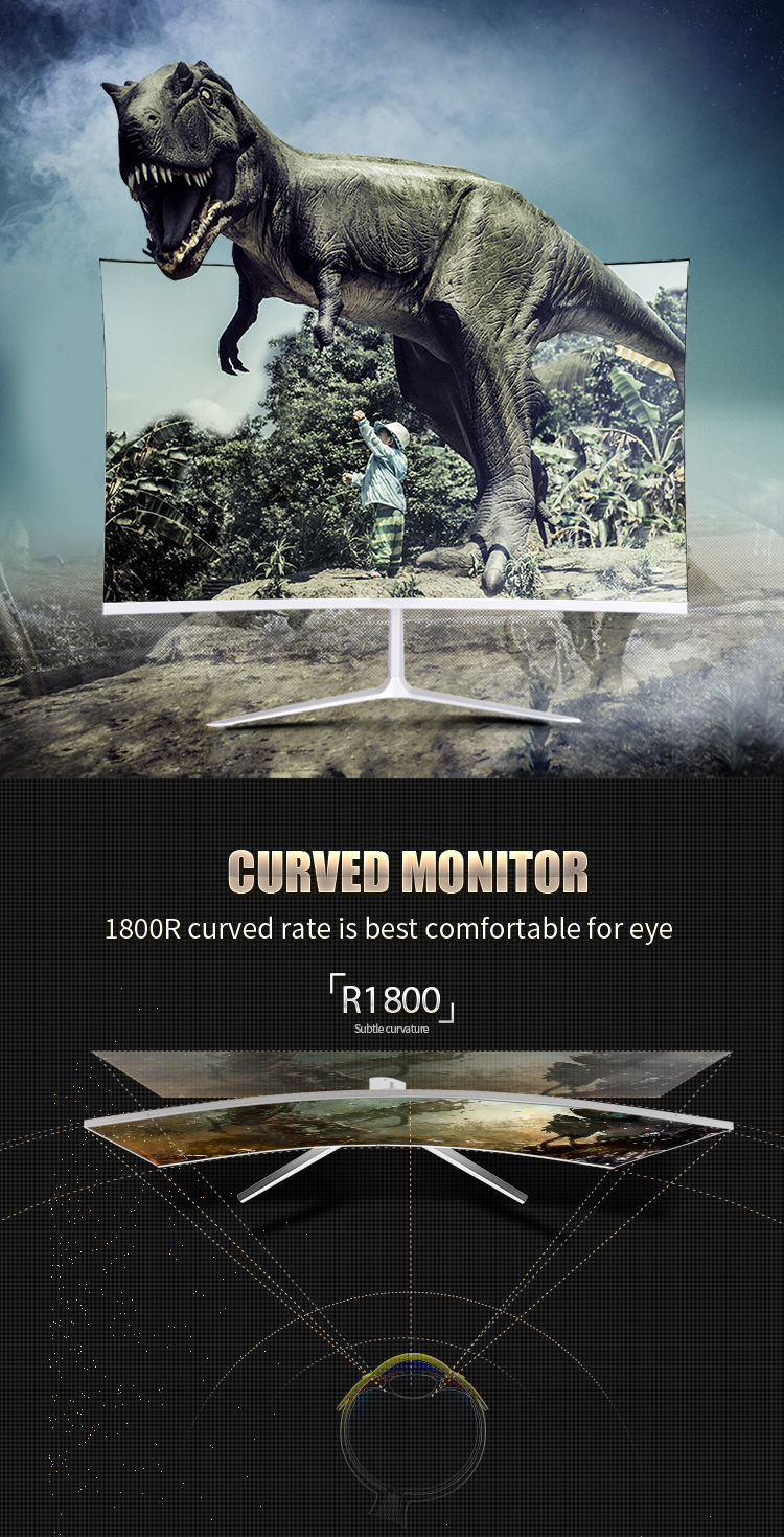 27 inch curved 144HZ ultra thin LED 2K gaming computer monitor