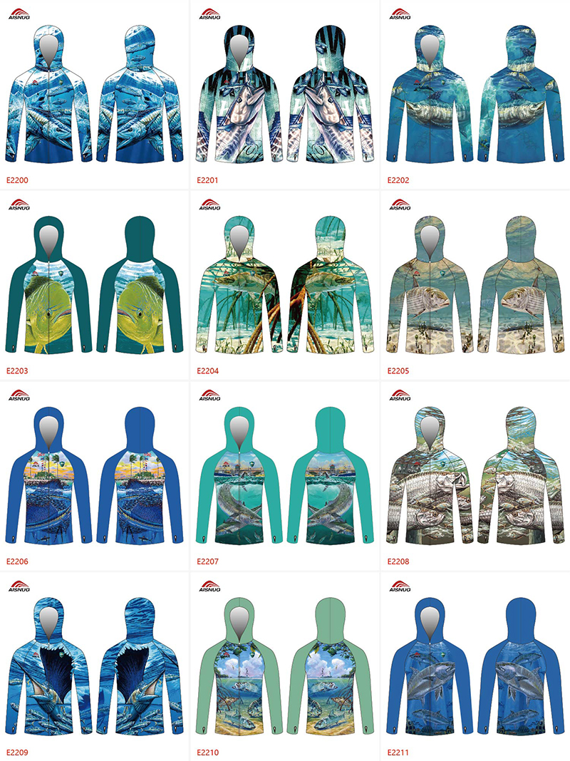 sublimation fishing long sleeve shirt custom design your own hoodie fishing shirt
