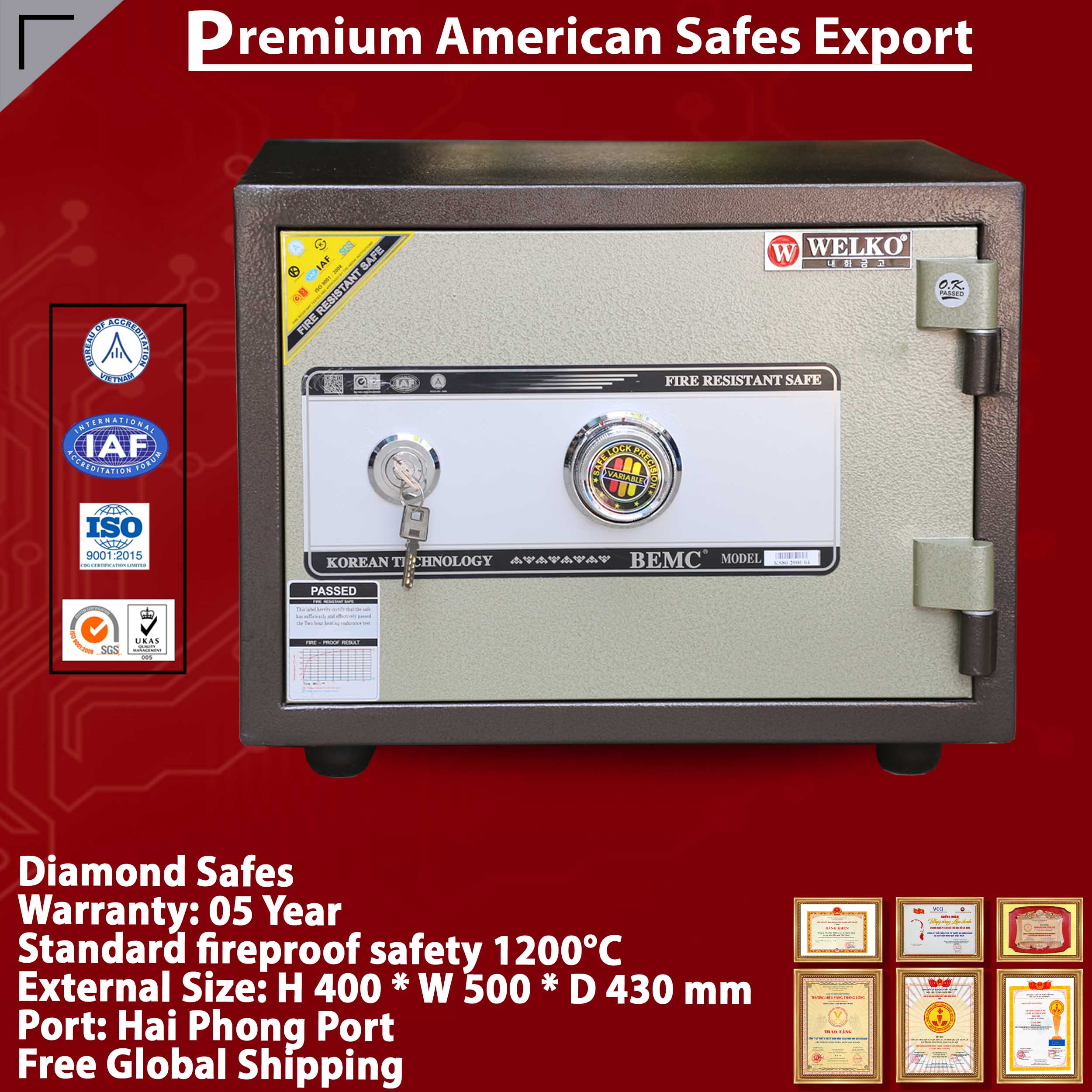 Diamond Safe KS80N KC Brown