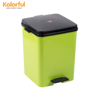 Cap opened by a pedal rubbish bin for household with customized color model I1511