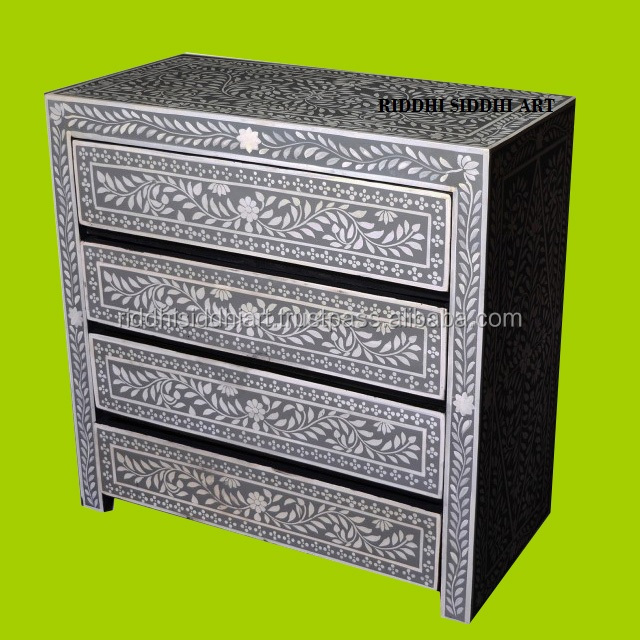 Bone inlay Chest of Four Drawer Classic Hotel Furniture Bone Inlay