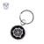 Gold Metallic Embroidery Twill fabric design Metal key chain key fobs Charm