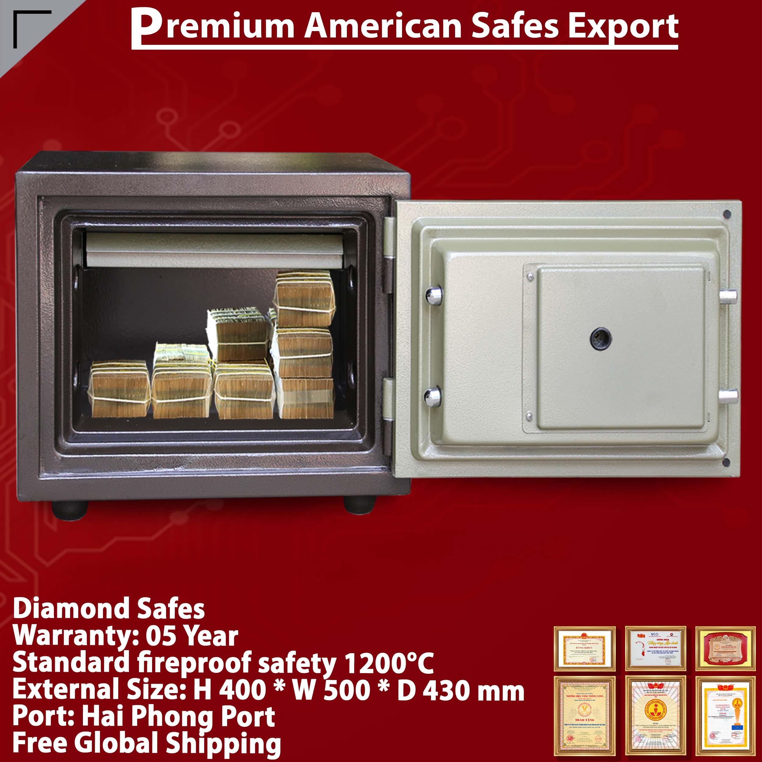 Diamond Safe KS80N LED Black