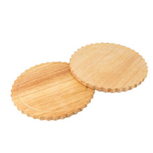 Sun Flower Shape Wood Desserts <strong>Plate</strong> 9 Inch Round Pizza Peel Cutting Boards Food Serving Trays