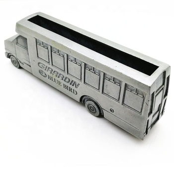 Supply personal minibus new design casting zinc alloy metal card holder for business gift