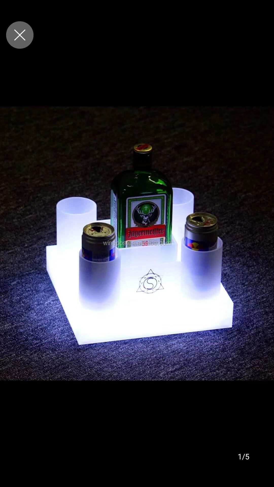 LED ice bucket, illuminated bar items, LED rack, illuminated bar supply