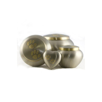 Brass Engraved Paw Marks Pet Cremation Urns