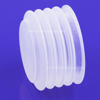 Custom Molded Food Grade Clear Silicone Rubber Bellows Dust Boots for Medical Pump