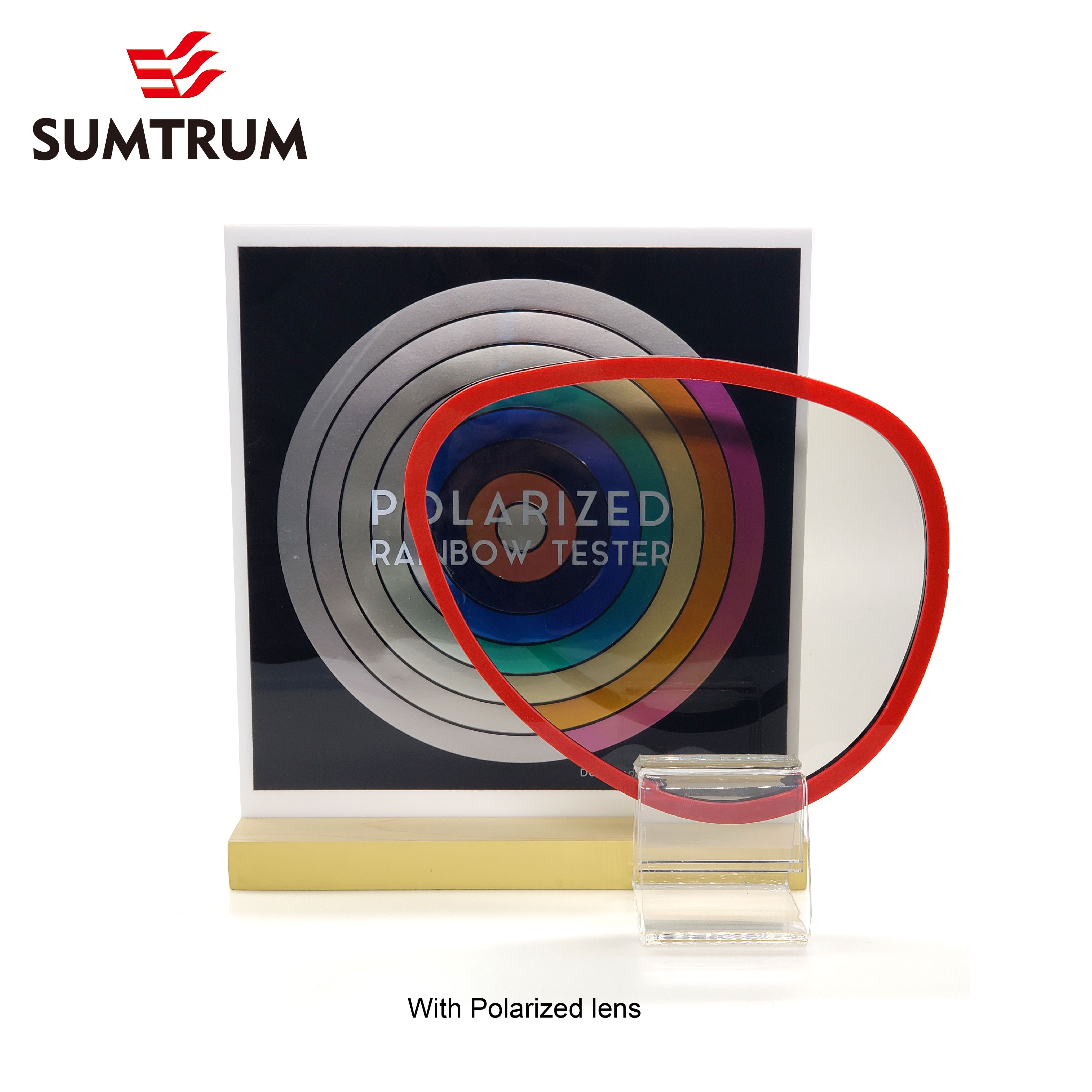 2020 New Rainbow effect Polarized Test and Mirror display combination
