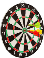 Round Shape Dart Board Made of Cork & Comes with 3 Metal Tipped Darts