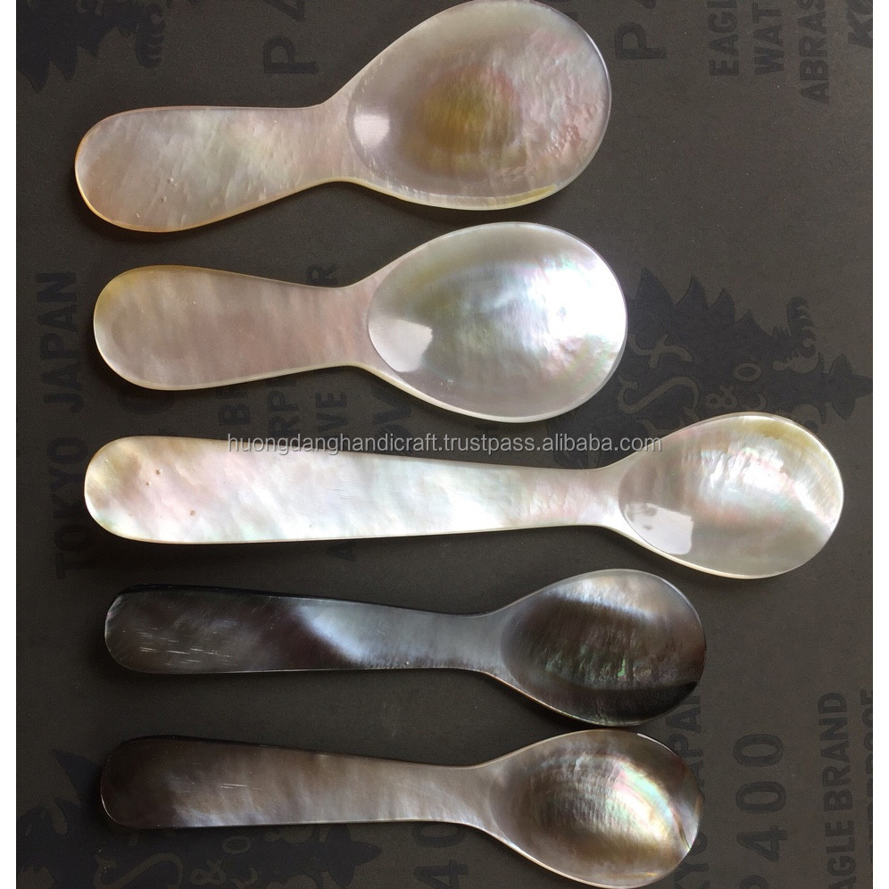 Special MOP (mother of pearl) spoons,  spoons for caviar/ tea/ ice cream, 100 food-safe spoon from Vietnam