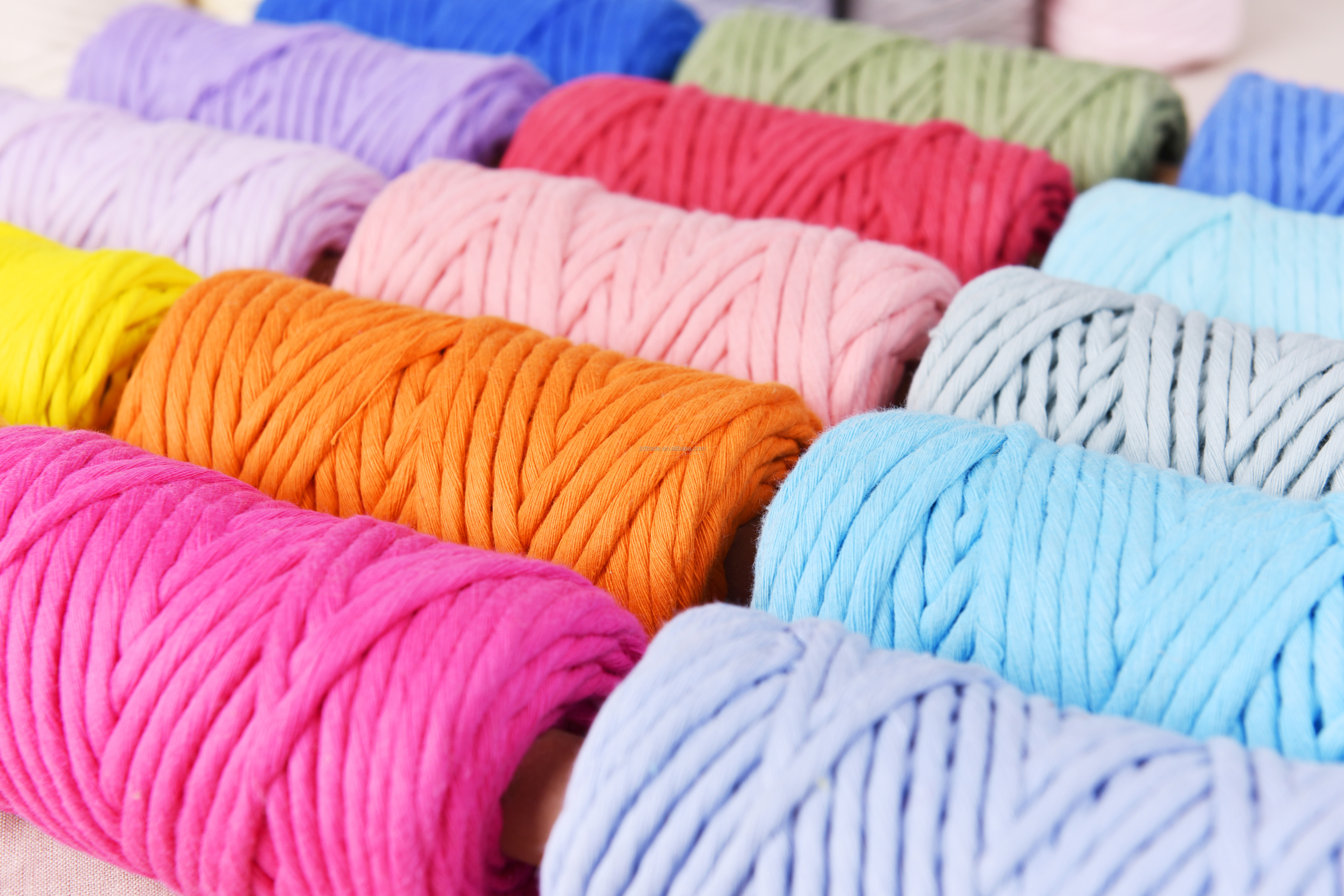SINGLE TWIST Cotton MACRAME ROPE 90yards a Roll Super Soft Cotton Rope, Macrame Cotton Ropes