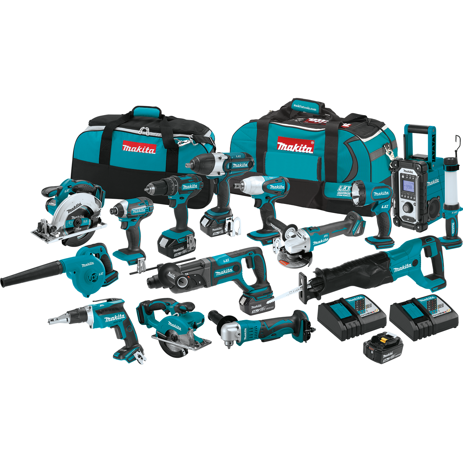 2019 New Sales Offer For-Makita Cordless Tool Kit 18 Volt 15 Pc Piece Lithium Ion Combo