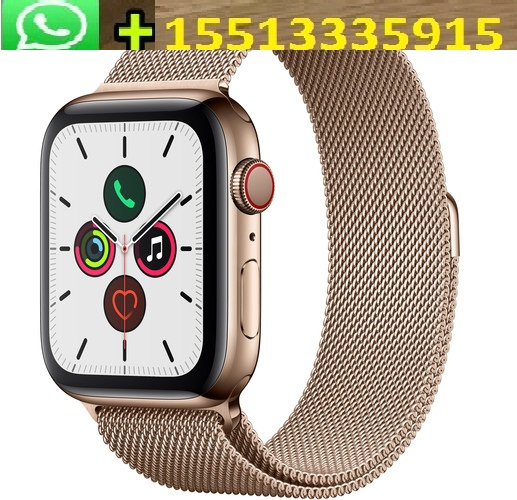 ORIGINAL Apple Watch Series 5 (GPS + Cell, 44mm, Gold Stainless Steel, Stone Sport Band)
