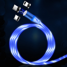 LED Charging Cable Visible Flowing Light UP USB Charger Cords Compatible for Phone <strong>X</strong>/8/8