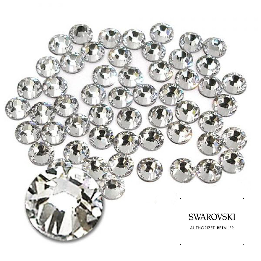 100% Genuine SWAROVSKI Elements <strong>Crystal</strong> in Bulk Wholesales Flat Back Non Hotfix Rhinestones