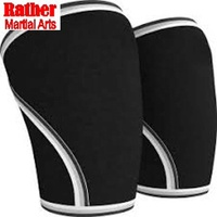 Compression knitting knee brace support sleeve with nylon and spandex