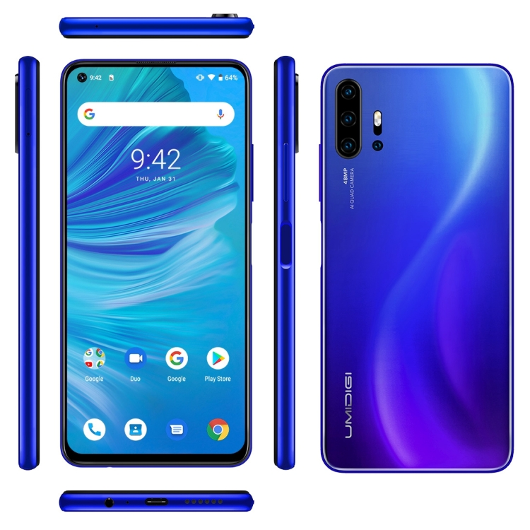 Stock offer Good <strong>Price</strong> UMIDIGI F2 6GB+128GB phone 48MP AI Quad Cameras, 5150mAh Battery