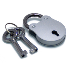 Cartoon Bear Shaped Promotional Silver Zinc Alloy Mini Metal Lock And <strong>Keys</strong>