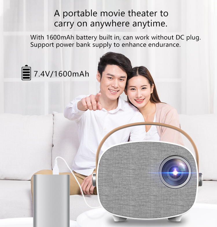 2020 Home theater portable mini projector 640*360P yg-300 1000 lumens laser Projector 4k LCD LED  wifi 4k proyector yg230