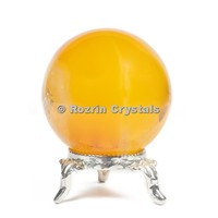 Gemstone Yellow Onyx Spheres