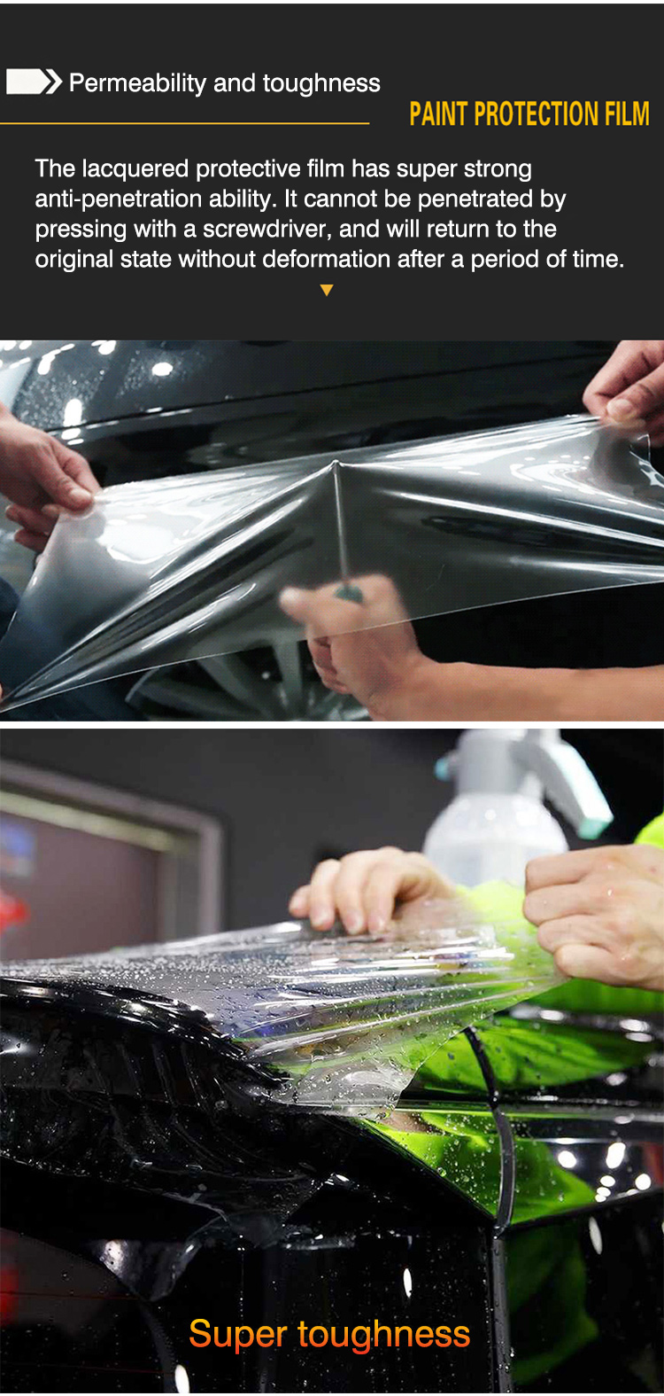 HANYA Auto-ซ่อม Scratch-Transparent TPU รถ Paint Protection Film PPF