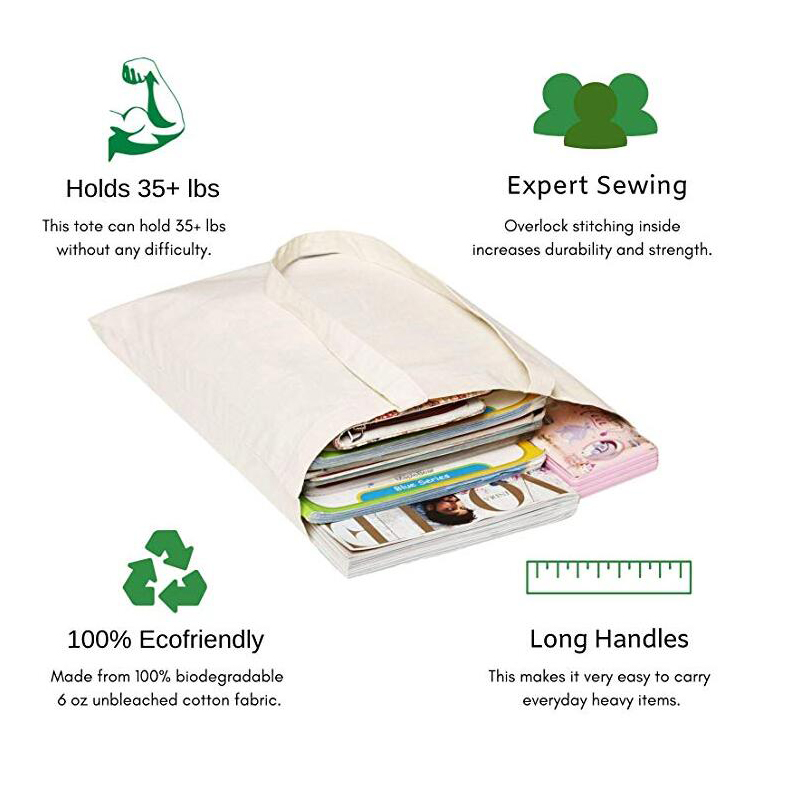 OEM Factory Custom Eco Super Strong Washable Reusable Laundry Cotton Tote Bag