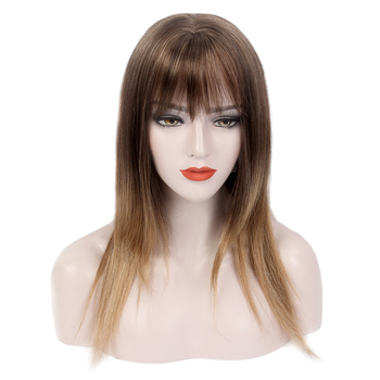 Stfantasy realistic brown Long Wigs synthetic hair women straight wig synthetic