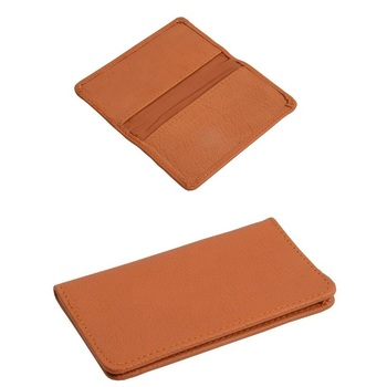 Executive business card case wallet in genuine leather