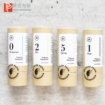 Wholesale customize printing  cardboard paper push up deodorant containers