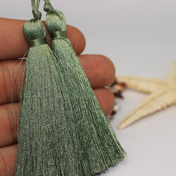 Dusty Green Lux Tassels