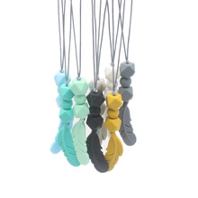 Baby Silicone Teething Necklace Baby Silicone Teether Nursing Necklace Chewing Silicone Teething Necklace Pendant Teething Toys