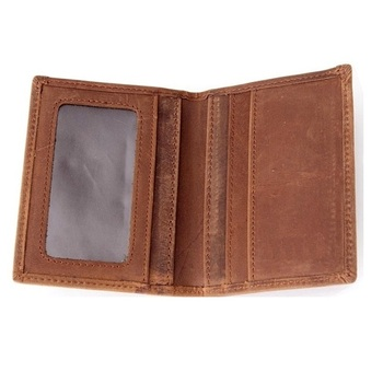 RFID Blocking Credit Card Holder Leather ID Case for Men / Men Slim Wallet Genuine Leather Vintage RFID Cards Card Case