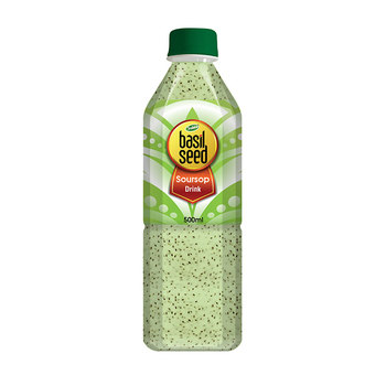 Healthy Drinking Private Label Basil Seed with Fruit Juice Drink
