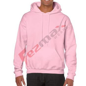 Wholesale high quality men oversized hoodies hot pink