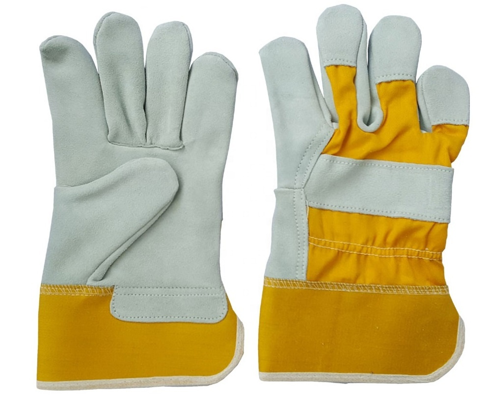 Work Safety Gloves Cow Split Leather industrial working gloves