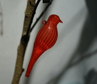 hand painted borosilicate glass birds cardinal ornaments for pier 1 Christmas tree decorations