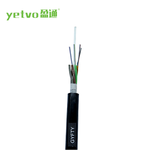 GYFTY 2 core single mode loose tube non-metallic strength member outdoor fiber optic cable