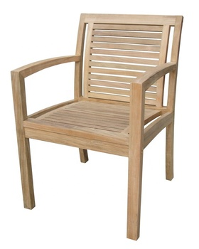 TEAK STACKING CHAIR -STRIP AND PLANK BY PT SEGORO MAS SOLO
