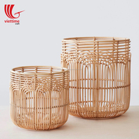Natural rattan laundry basket/Storage basket woven from rattan wholesale