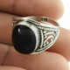 Hot imperious design black star gemstone ring online 925 sterling silver jewelry wholesaler antique jewellery