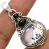 Amazing 925 Sterling Silver Dendritic Opal Earrings Jewelry