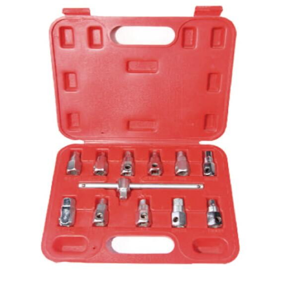 Auto Tools 12PC Oil Drain <strong>Sump</strong> <strong>Plug</strong> Key Socket Set Gearbox Removal Wrench