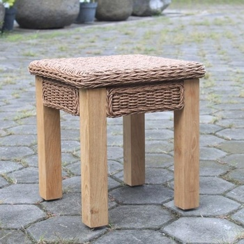 TEAK-WICKER SIDE TABLE - ANDONARRA BY PT SEGORO MAS SOLO