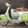 Vintage Vespa VBB in Linden Green & White with Sidecar