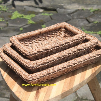 RATTAN BASKET OUTDOOR  - NAPLES SET OF 3