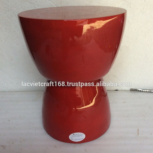 High quality best selling new modern spun bamboo stool in red color from Vietnam