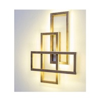 Modern simple Wood grain square up down light LED wall lamp aisle light