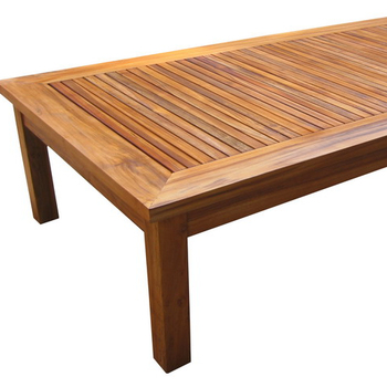 TEAK OUTDOOR FURNITURE - RECTANGULAR COFFEE TABLE
