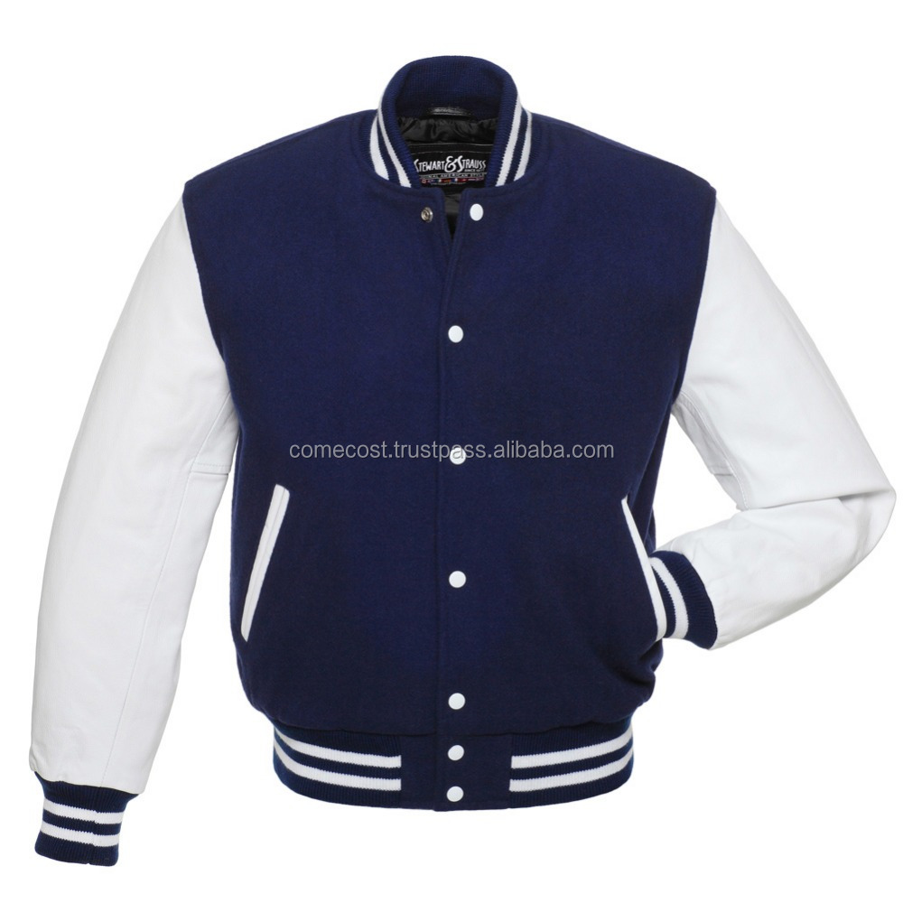 pakistan made in Leather Sleeve Varsity Jackets